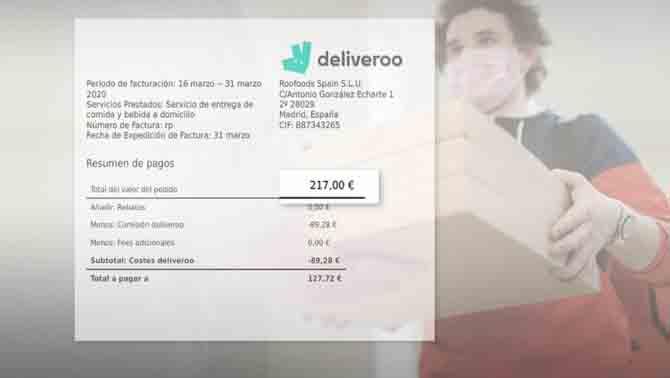 Glovo y Deliveroo se quedan hasta el 40% del importe de los restaurantes
