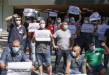 Los trabajadores de Nissan en Barcelona reciben el apoyo de los taxistas
