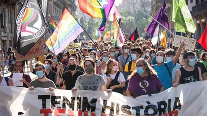 Reclamación de derechos del colectivo LGTBI en Barcelona
