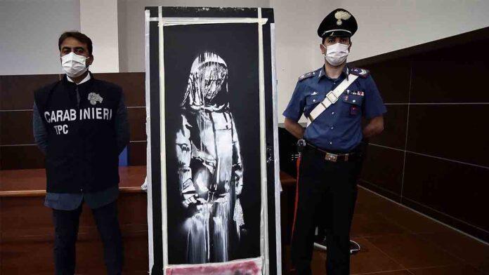 Seis detenidos por el robo de la obra de Banksy en París