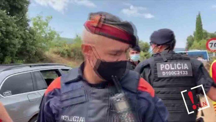 Cargas policiales en la visita de los reyes al Monasterio de Poblet