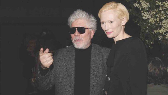 Pedro Almodóvar y Tilda Swinton en un primer vistazo al nuevo cortometraje