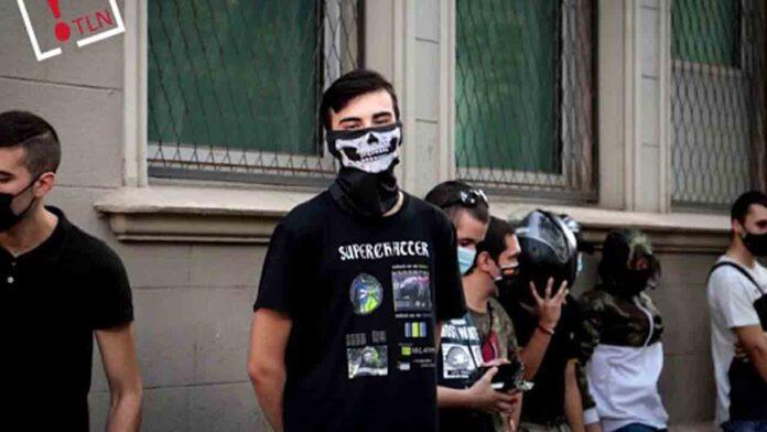 Concentración de neonazis en Barcelona en la celebración de la Diada
