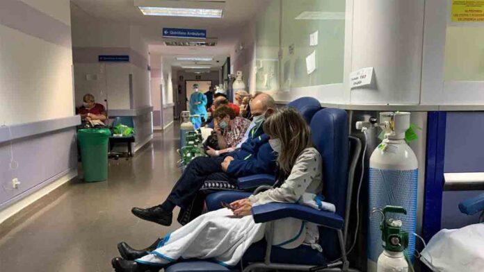 El hospital Severo Ochoa de Madrid, al borde del colapso