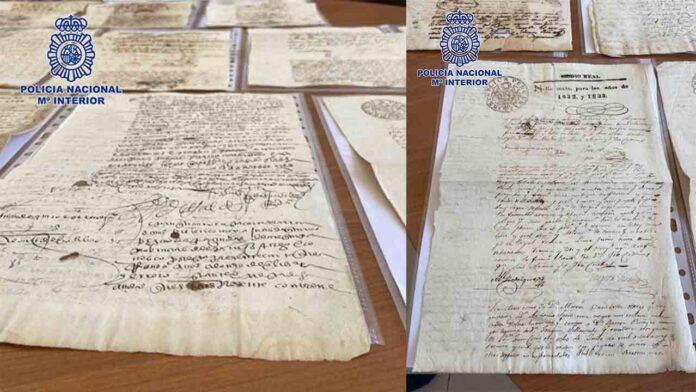 Recuperados en Badajoz 28 manuscritos originales de la época del Virreinato del Perú