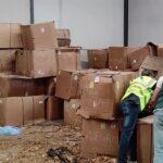 Incautadas 53 toneladas de picadura y hojas de tabaco