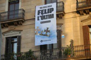 pancarta contra Felipe VI