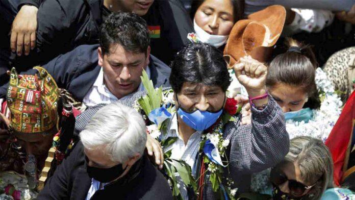 Regreso triunfal de Evo Morales a Bolivia