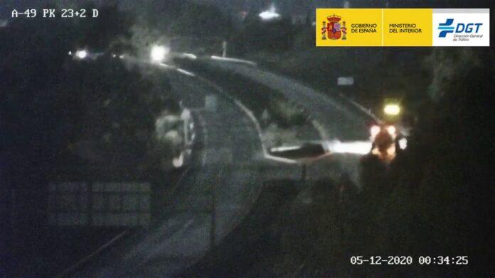 Detenidos dos conductores en sentido contrario en la autovía de Sevilla a Portugal
