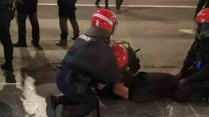 Cuatro detenidos en los disturbios de anoche en San Sebastián