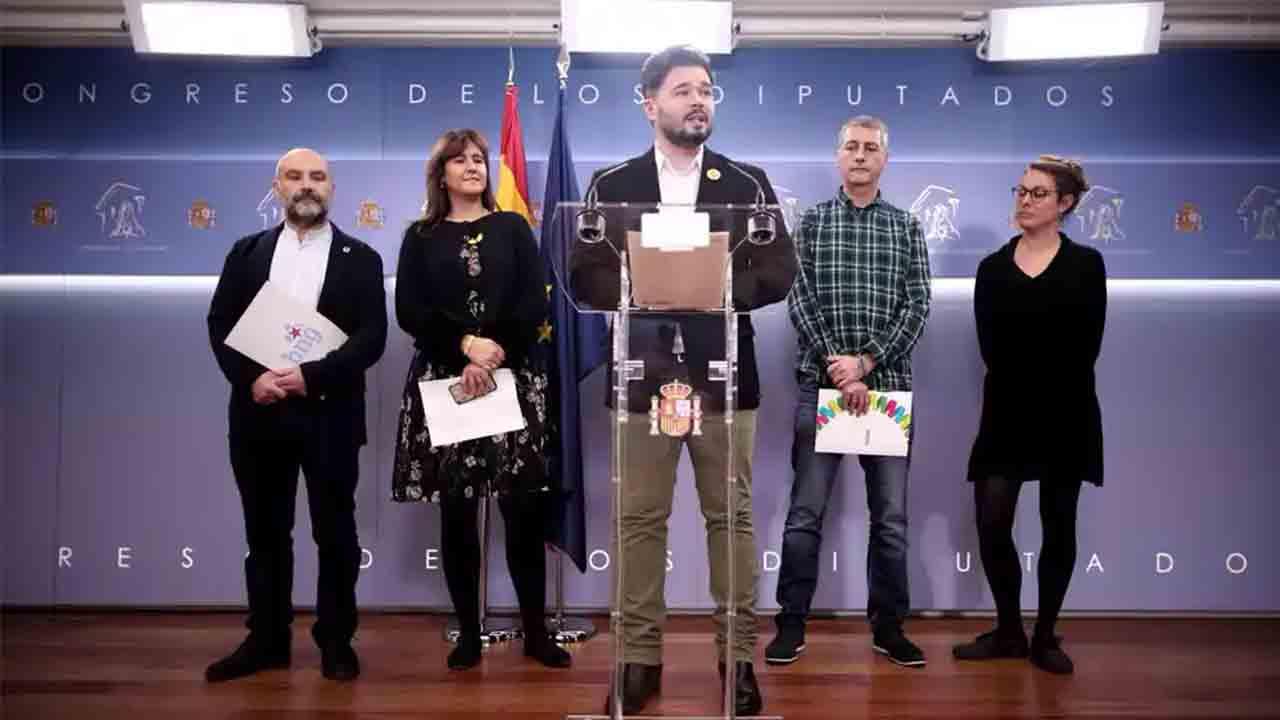 Bildu, ERC, JxCAT, PDeCAT, CUP, PNV, Compromis y BNG no asisten al acto del 23-F