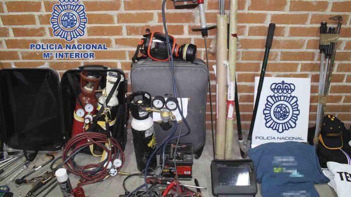 Desarticulado un grupo especializado en robos con fuerza en oficinas y empresas
