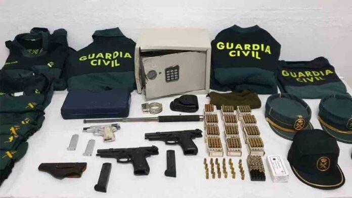 Detenidos tras asaltar y robar armas y uniformes de un cuartel de la Guardia Civil