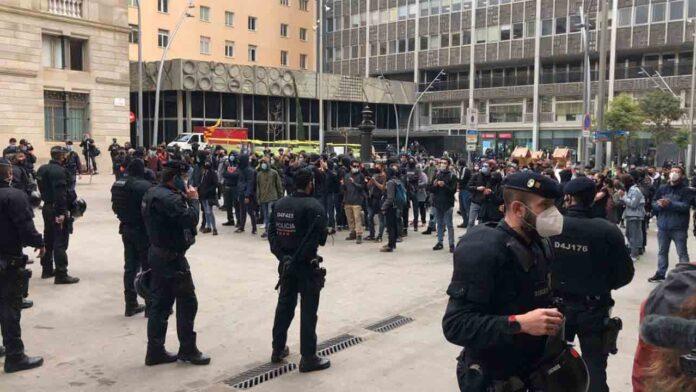 El sindicato policial de derechas Jusapol, se manifiesta en Barcelona con el apoyo de Vox, PP y Ciudadanos