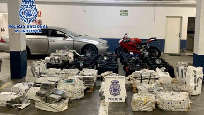 La Policía interviene en Huelva 1.600 kilos de cocaína en un garaje