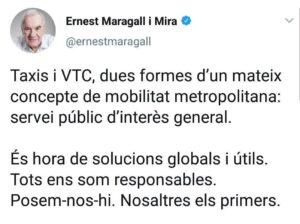 Maragall alimenta los fondos buitre en contra del decreto que regula los VTC