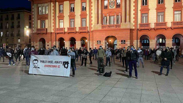 Protestas en Barakaldo por el encarcelamiento de Pablo Hasel