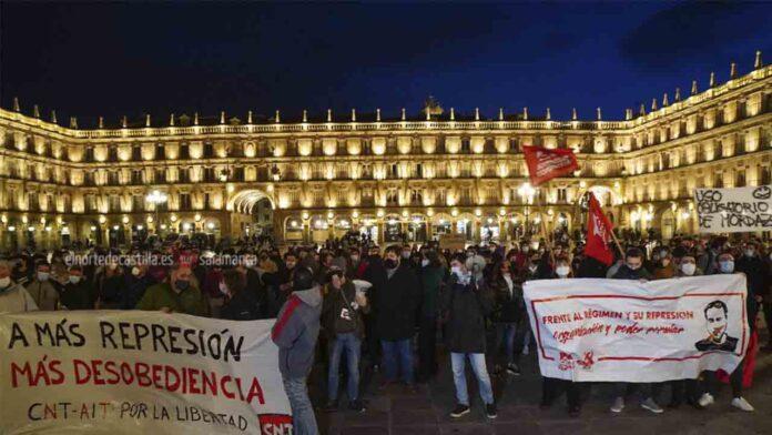 Protestas en Salamanca por la liberación de Hasel