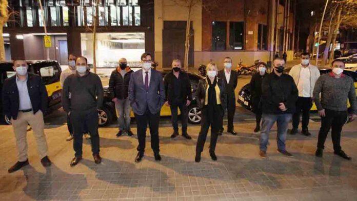 Salvador Illa se compromete a regular el sector de los VTC en Barcelona