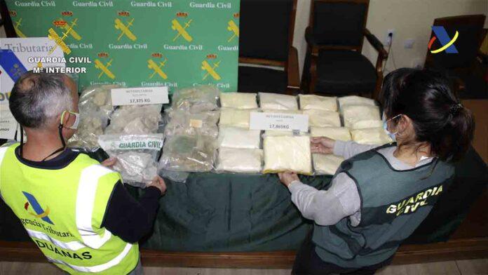 Intervenidos más de 36 kilos de anfetamina y metanfetamina