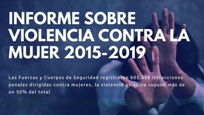Más de 600.000 infracciones penales dirigidas contra mujeres entre 2015 y 2019