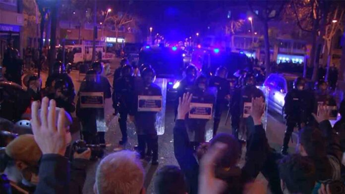 Sin incidentes en la manifestación por Hasel de hoy sábado