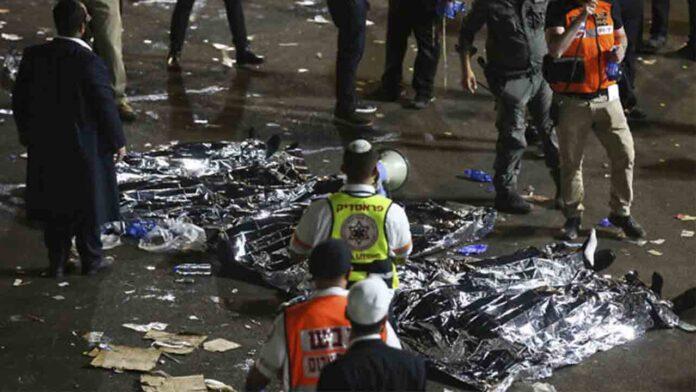 Al menos 44 muertos y 150 heridos en una estampida en Israel