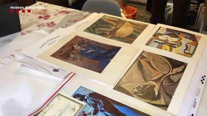 Detenido un hombre que vendía obras de arte falsas por Internet