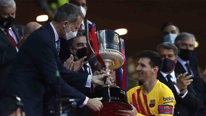 El Barça campeón de copa, gana al Athletic 0-4