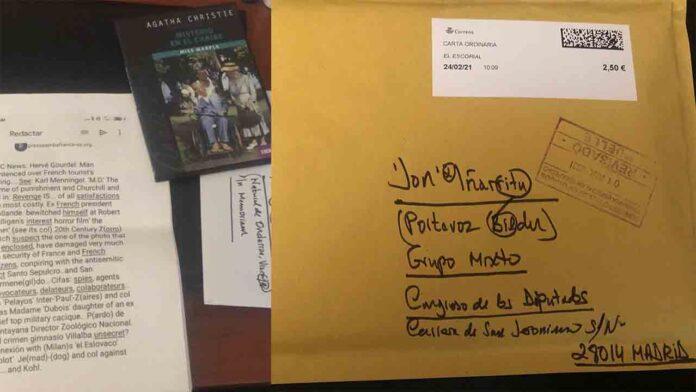 El Diputado de Bildu, Iñarritu, recibión un sobre como el de Maroto