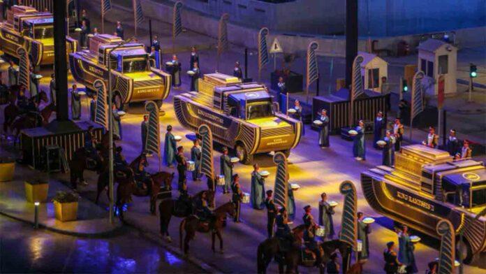 Espectáculo del traslado de las momias de Egipto a su nuevo hogar