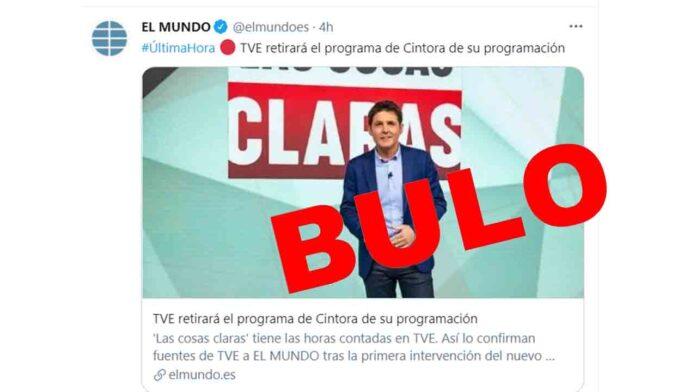 TVE 'NO' retirará el programa de Jesús Cintora