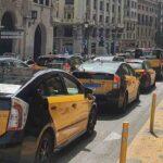 La protesta de los taxistas de Barcelona colapsa la ciudad