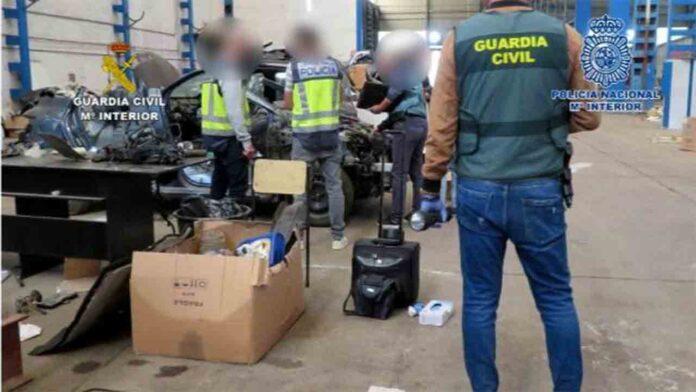 Desarticulado un grupo dedicado al robo de vehículos