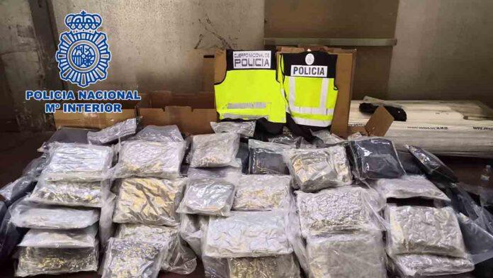Intervenidos 132 kilos de marihuana para su distribución en Alemania