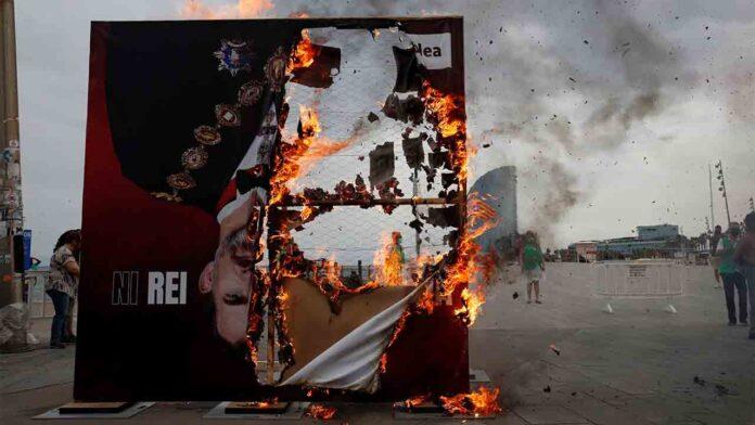 Protestas por la visita del rey a Barcelona