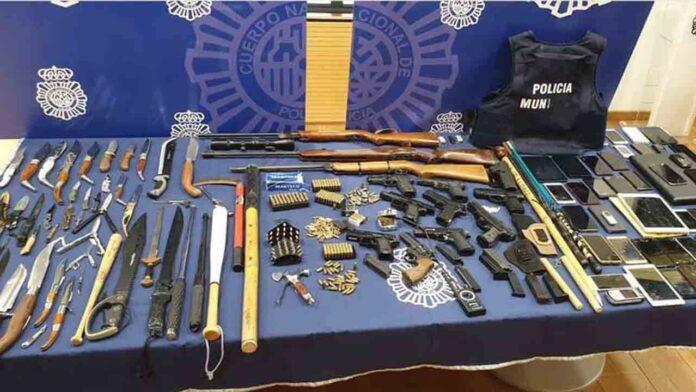 Siete detenidos por tráfico de armas y drogas en Burgos y Valladolid
