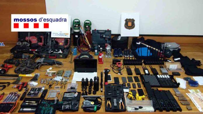 Desarticulado un grupo especializado en el robo de cajas fuertes con sopletes