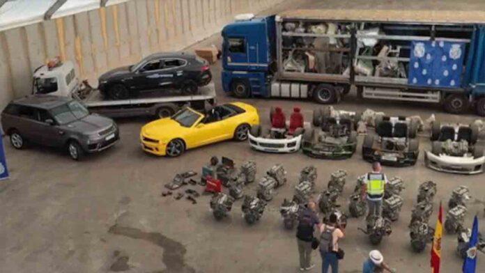 Despiezaban vehículos robados y los enviaban al este de Europa