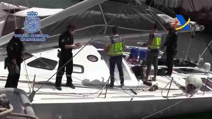 Intervenida una tonelada de cocaína en un velero en medio del Atlántico