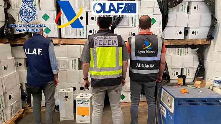 Intervenidos 27.000 kilos de gases fluorados prohibidos por la UE