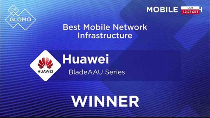 La serie BladeAAU de Huawei gana la 'Mejor infraestructura de red móvil' de GSMA GLOMO