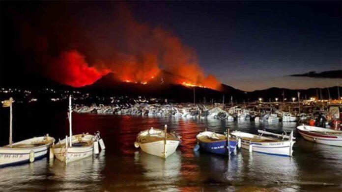 Los Bomberos dan por estabilizado el incendio de Llança