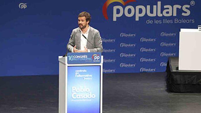 Pablo Casado dice que en Baleares no se habla catalán