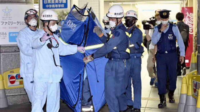 Diez heridos por apuñalamiento en un tren de Tokio