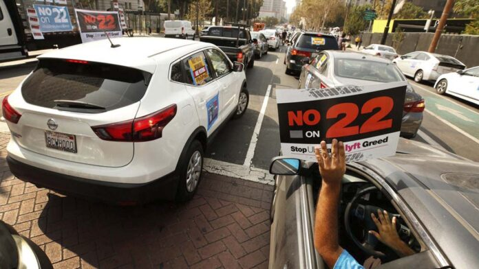 El Tribunal de California declara inconstitucional la Proposición 22 de Uber y Lyft