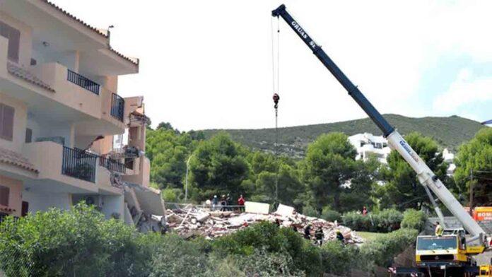 Encuentran muerta a la mujer en el derrumbe del edificio de Peñíscola