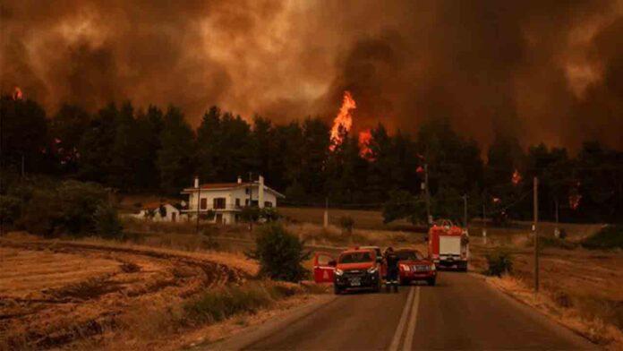 Los incendios arrasan la periferia de Atenas en el quinto día de lucha contra el fuego