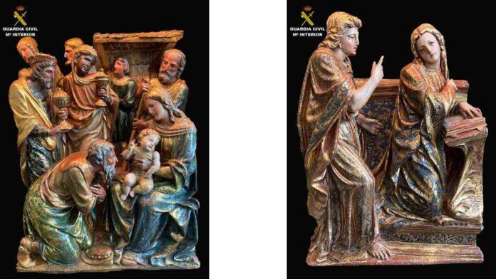 Tres relieves renacentistas regresan a Zaragoza tras 22 años desaparecidos