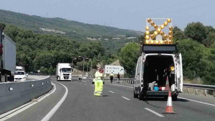 Un camionero en dirección contraria en la C25 multiplicaba por nueve la tasa de alcohol